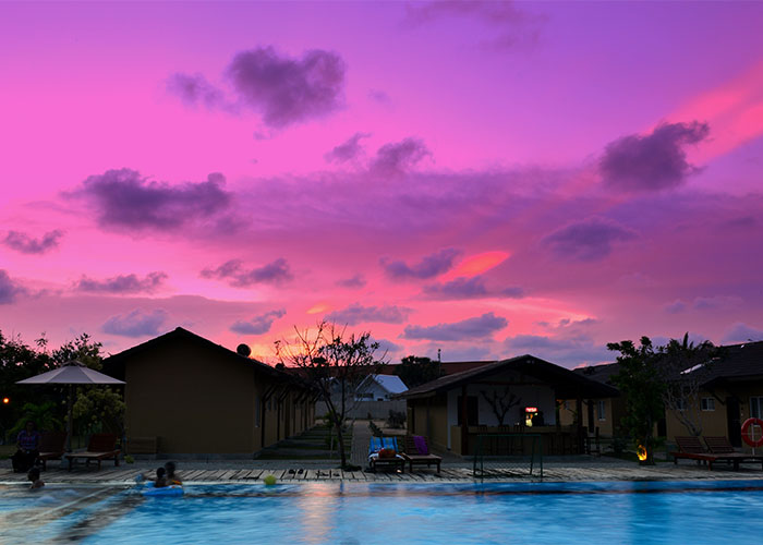 Evening Scenary of Amethyst Resort Passikudah Pool