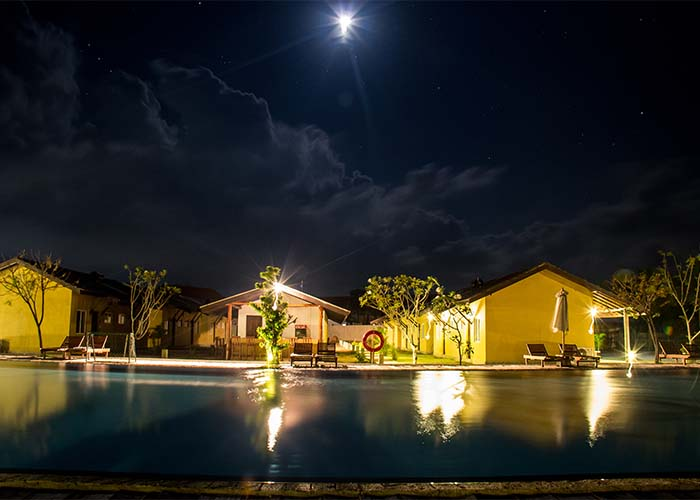 Night View of the Amethyst Resort Passikudah